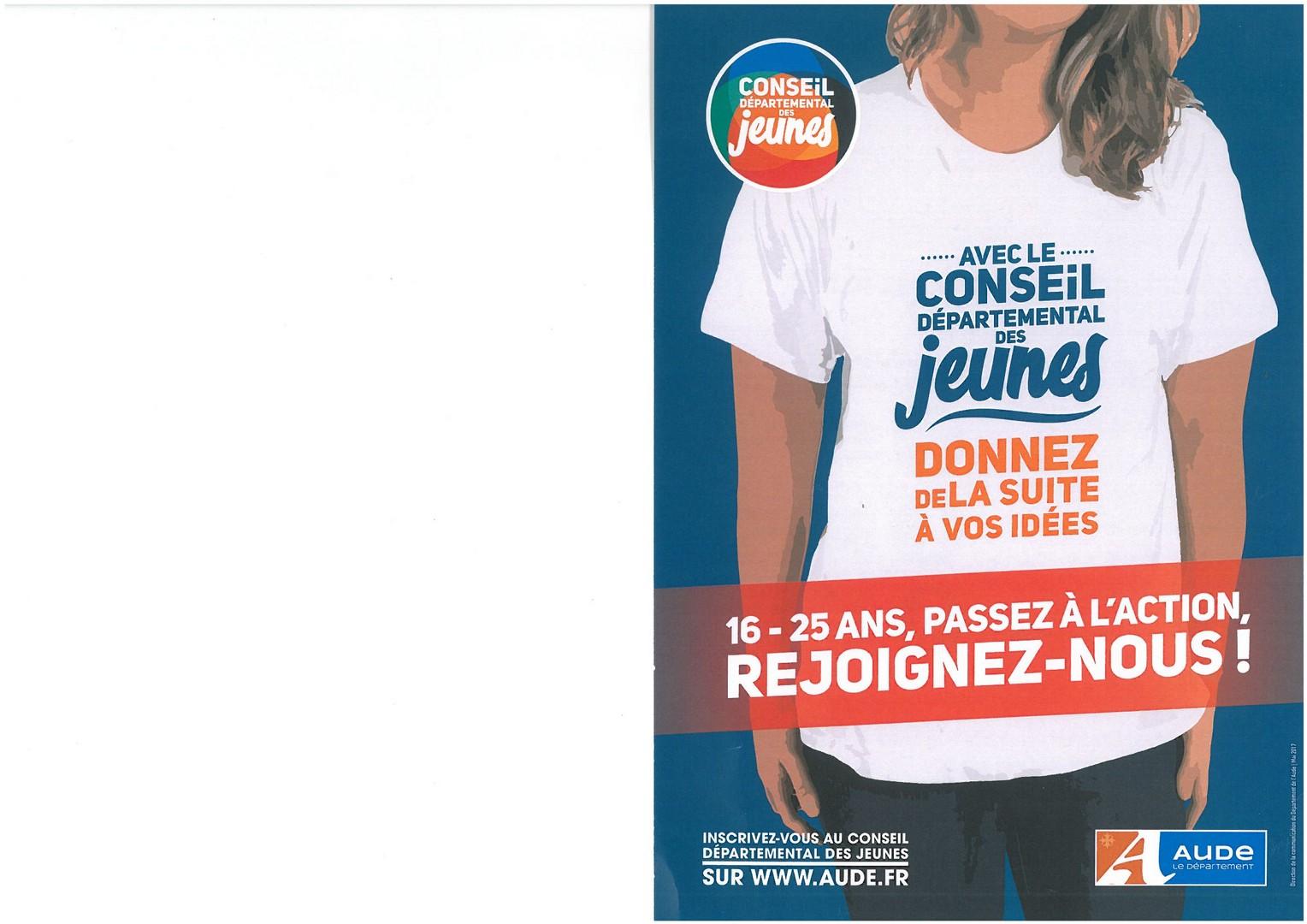 Le Conseil Departemental Des Jeunes De LAude Est Un Espace Parole Et Daction